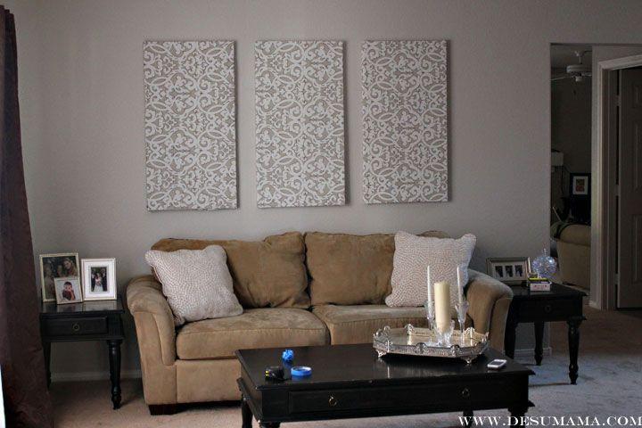 Fabric Wall Panels Decorative : Diy fabric wall panels de su mama