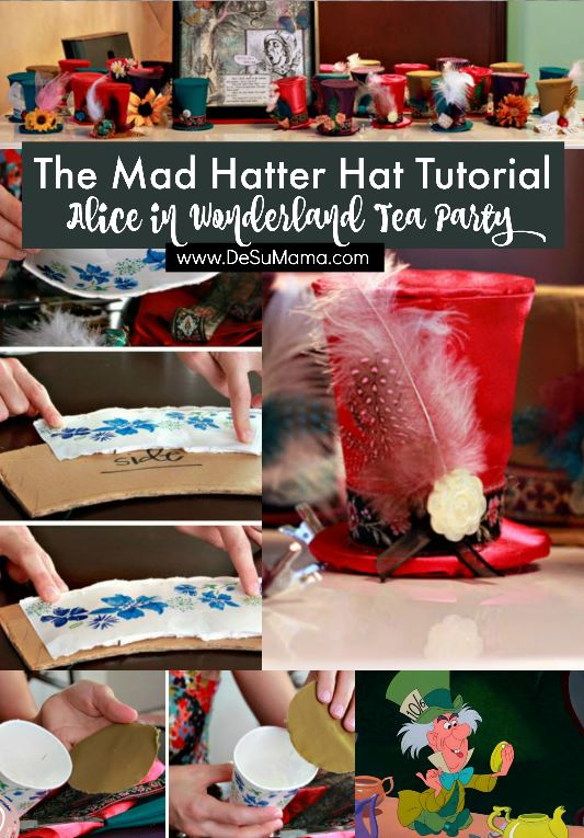 Hosting a Mad Hatter Alice in Wonderland Tea Party? Then this Mad Hatter Hat tutorial