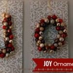 Inspired Home Decor: JOY Ornament Craft for the Holidays