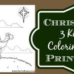 Three Kings Printable – Los Tres Reyes Mago Coloring Page