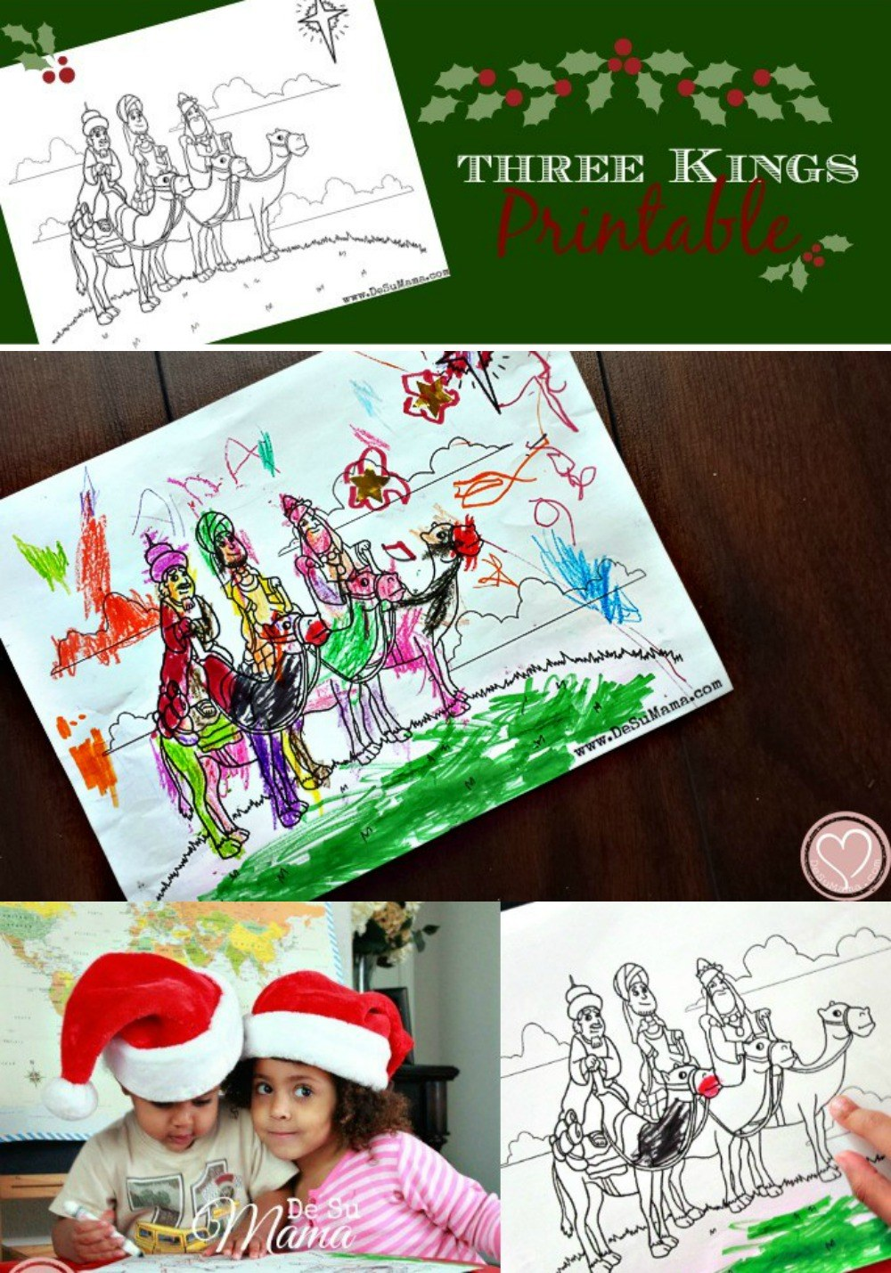 Three Kings Coloring Pages For Preschoolers Los Tres Reyes