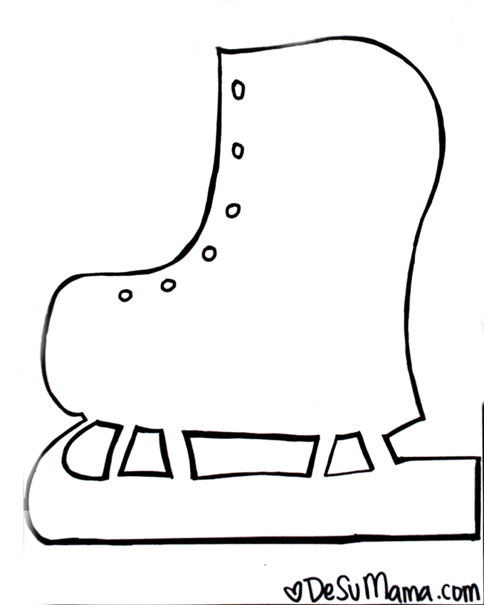 Ice Skate Craft Template
