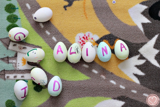 Easter Crafts Using Plastic Eggs Letter Recognition Game
