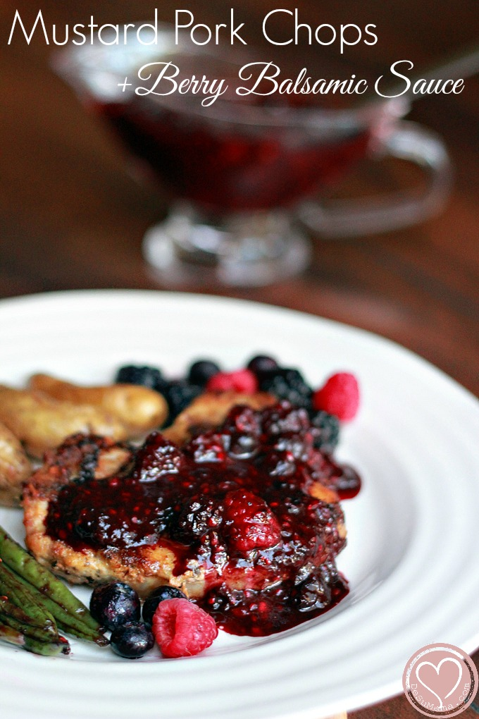 Dijon Mustard Pork Chops with Berry Balsamic Sauce - De Su Mama