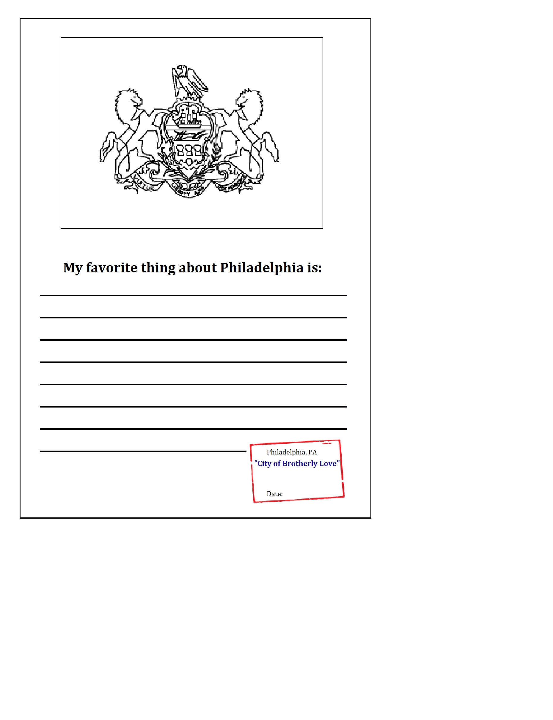Click On The Printable Above To Download Your Own Philadelphia Passport  Stamp! Cut It Out