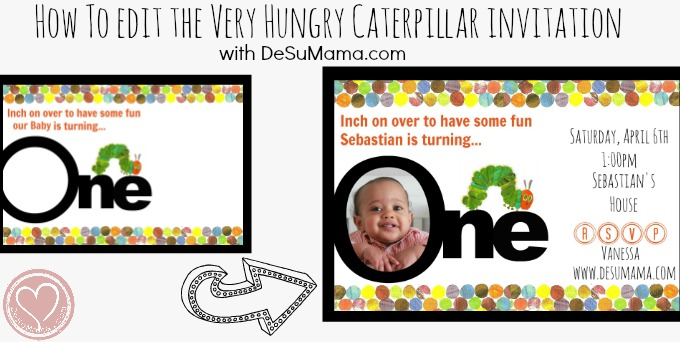 Very Hungry Caterpillar Party Invitations Free Printable De Su Mama