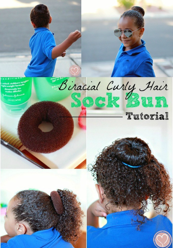 Curly Hair Buns Sock Bun Tutorial For Girls Hairstyles