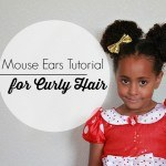 Mouse Ears Tutorial for Curly Biracial Hair