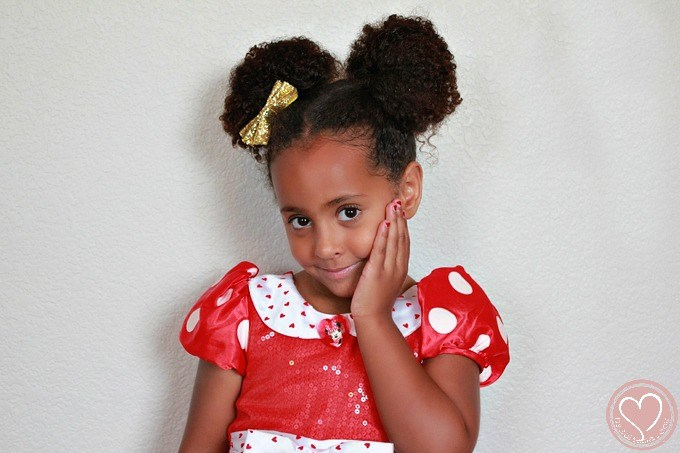 Minnie Mouse Hairstyles Curly Buns For Little Girls