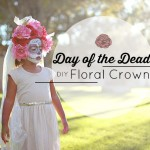 Day of the Dead DIY Floral Crown for Little Girls