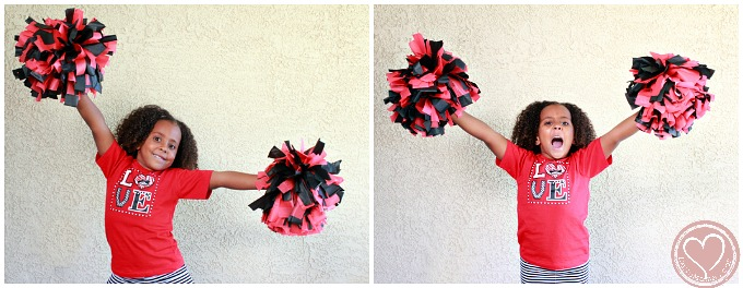 Go Vegas Rebels Diy Cheerleader Pom Poms Tutorial