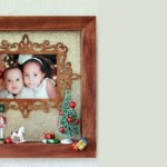 Siblings First Christmas Photo Memory Shadowbox Craft