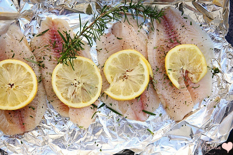 how to cook fish and rosemary