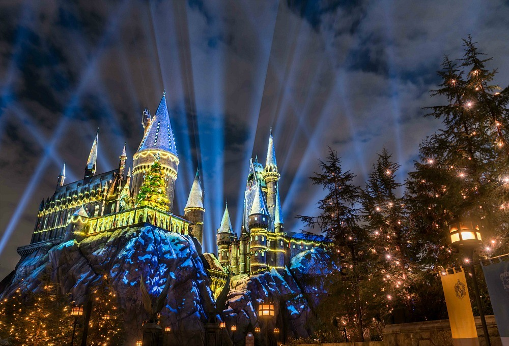 Christmas At Universal Studios And Harry Potter World Hollywood